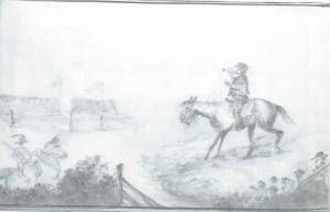 Bugler Lienbach on horse